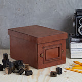 Leather retro storage box