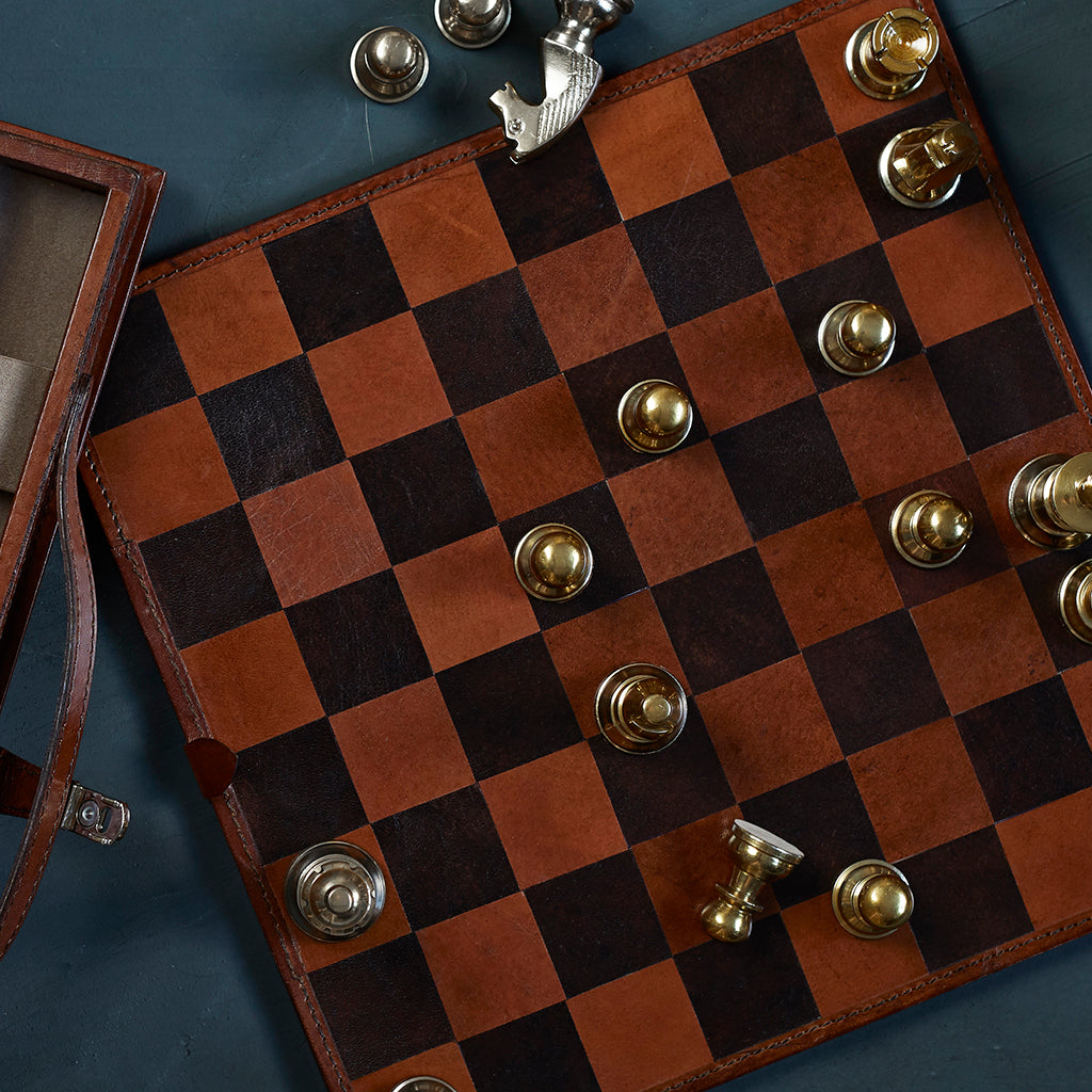 Conker brown chess board detail