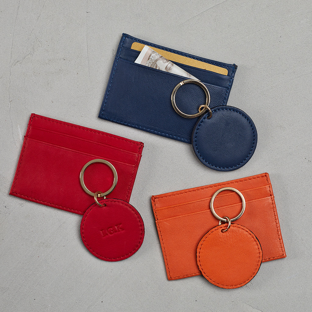 leather wallet and key ring colours
