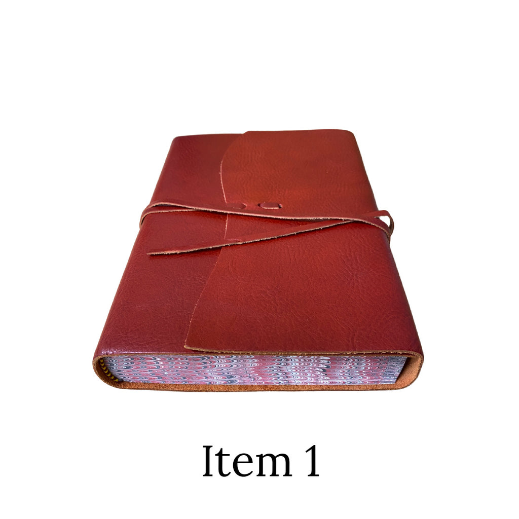 Seconds leather marble edged tie journal Item 1