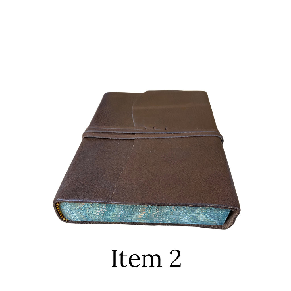 Seconds leather marble edged tie journal item 2