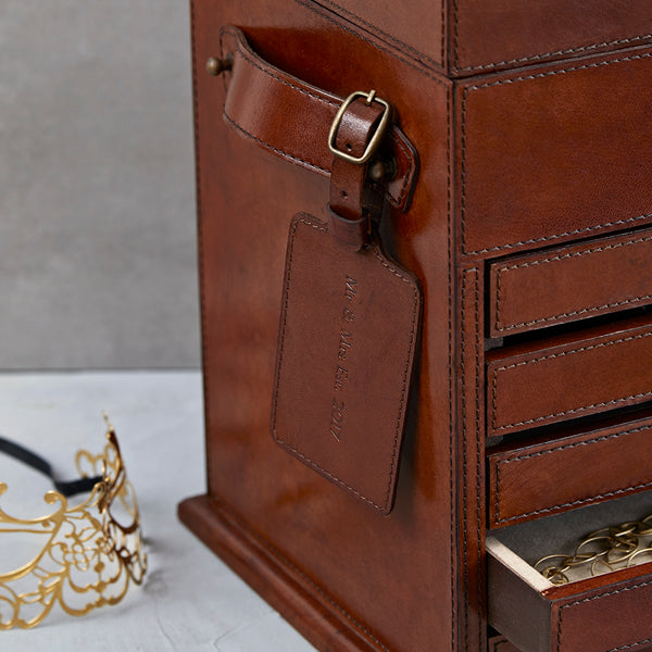 Men's Leather Jewellery Organiser