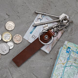 plain leather key ring