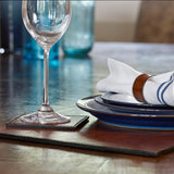 placemats on bare wood table