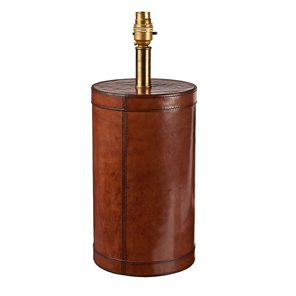 Leather Lamp Base