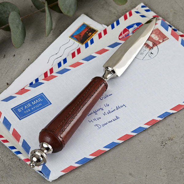 Leather handled letter opener