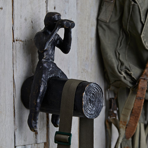 Man on Log Decorative Hook