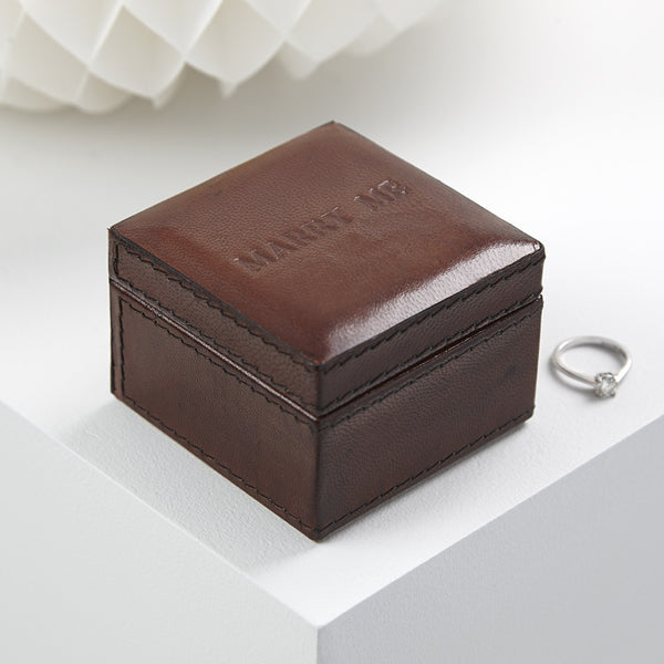 Marry Me leather ring box