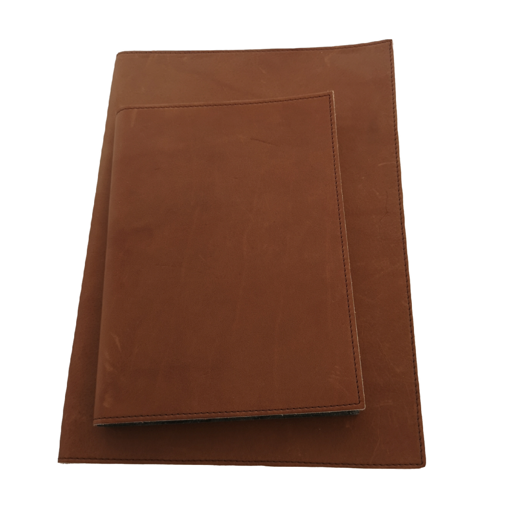 Leather Lined Notebooks.  Two Sizes  - Seconds