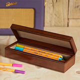 Open Leather Oblong box for pencils