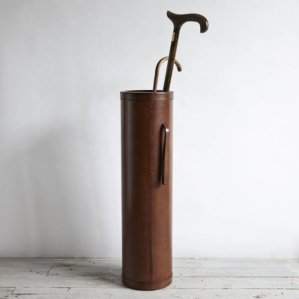 Leather stick holder with handles