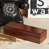 Closed Leather Oblong box for pens