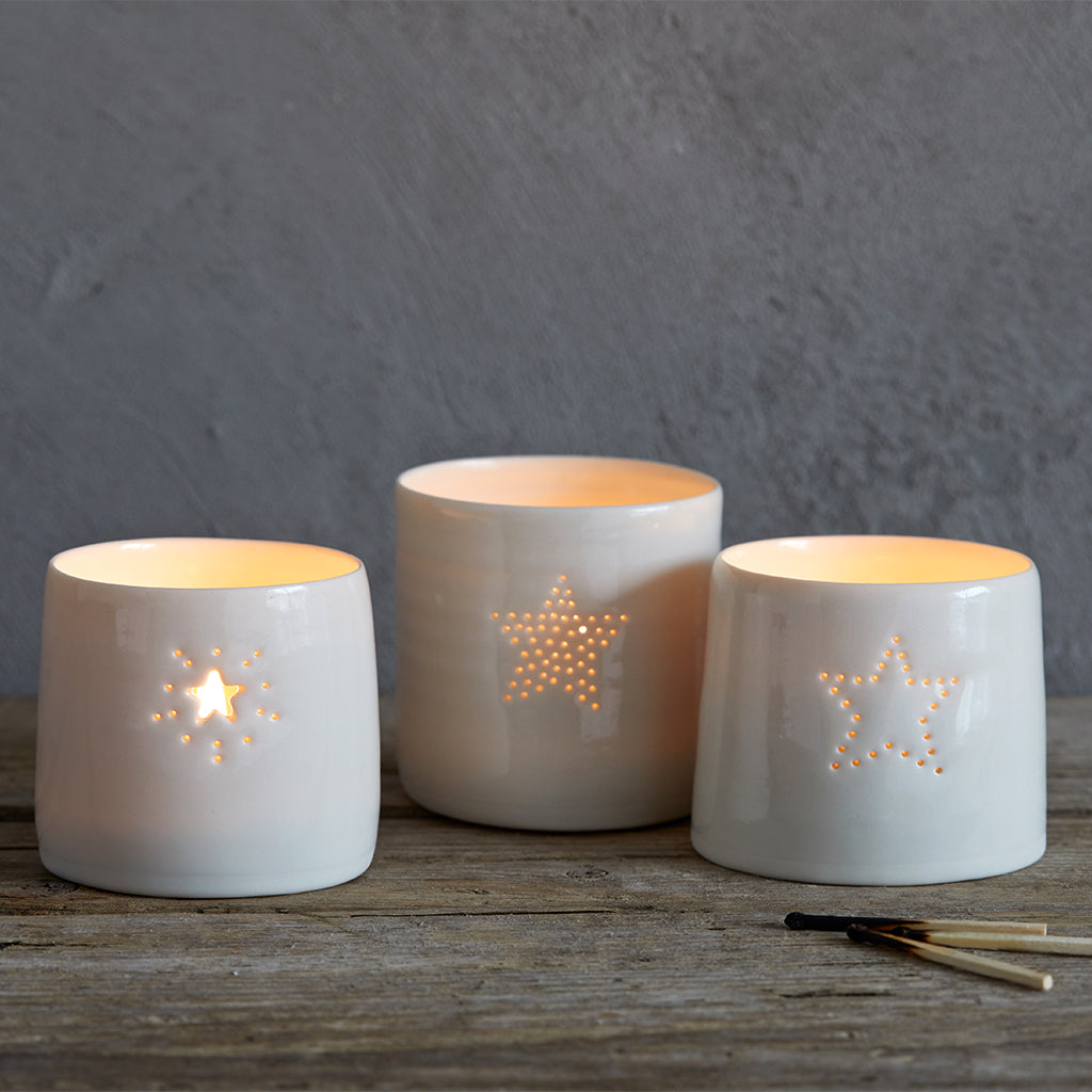 Christmas Star Tealight Holder. Set of three