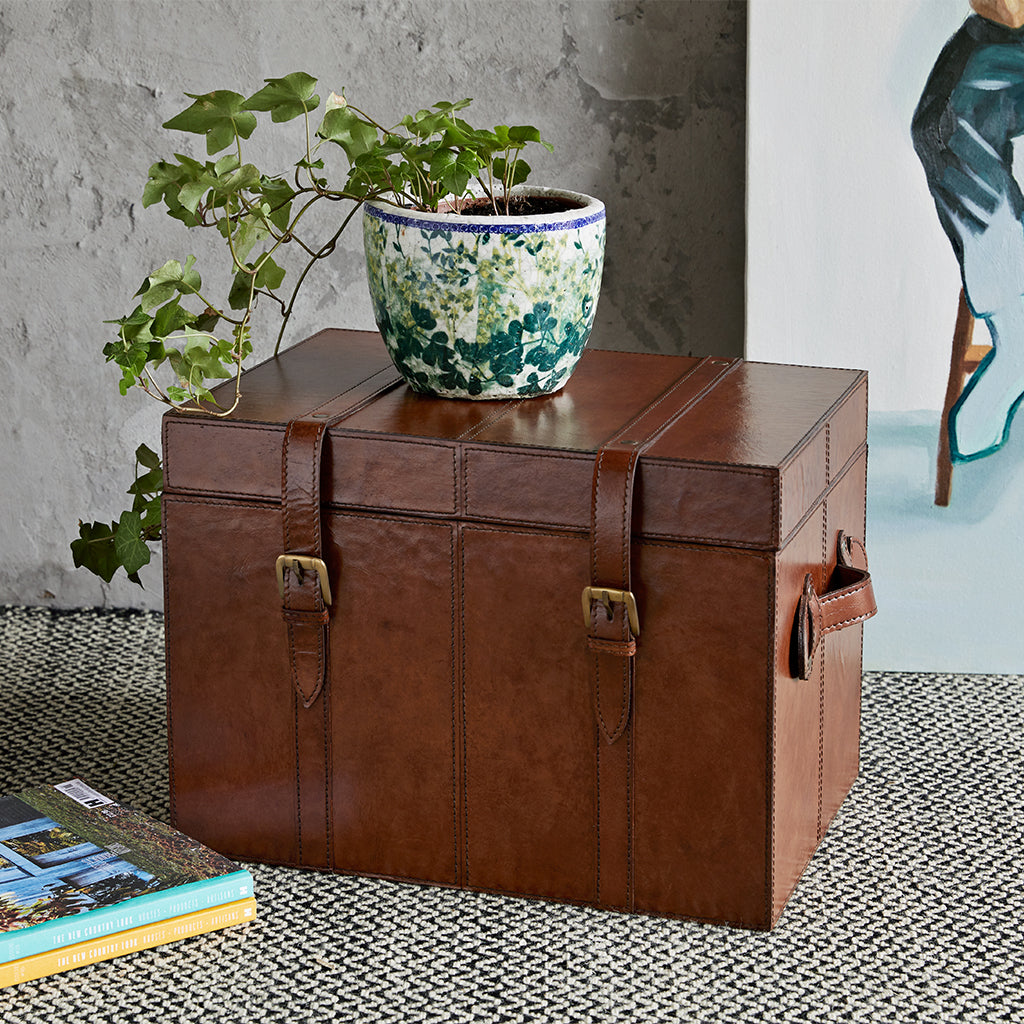 Leather Heirloom Trunk with handles