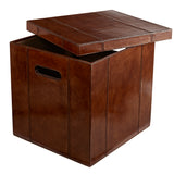 practical leather square storage box for storing papers, toys and accessories