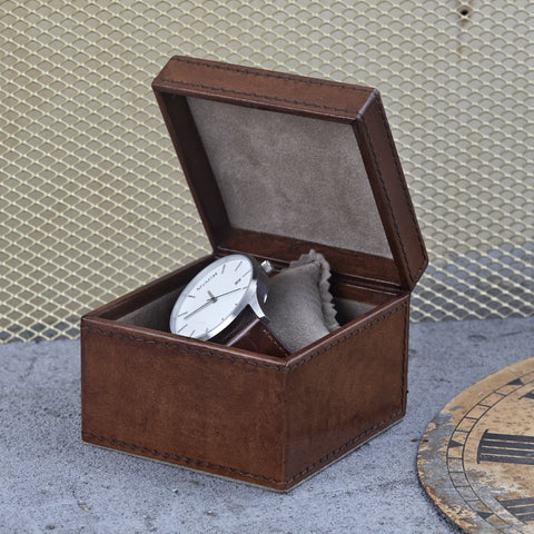 Conker Brown Square Watch Box