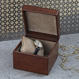 Square watch box with removable watch cushion