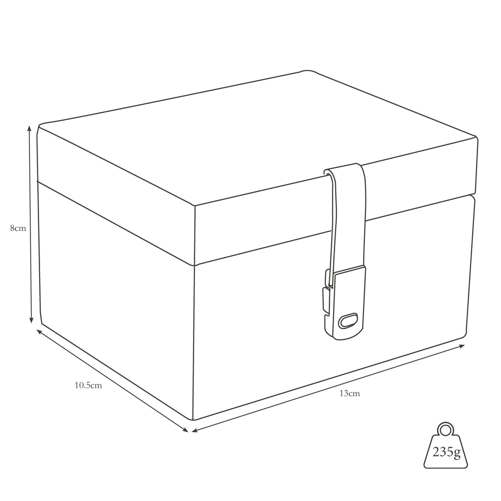 Dimensions and weight of stud box closed