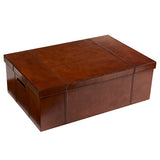 leather underbed storage box to store toys, linen and memorabilia