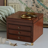 Leather Vanity Jewellery Box closed