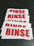 WASH - RINSE - WHEELS Stickers
