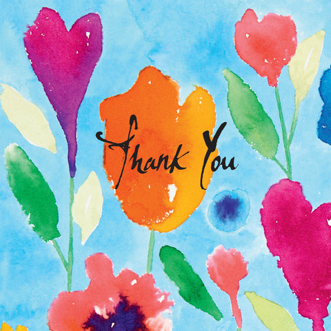 Inkflowers - Thank You Notecards Pack of 8