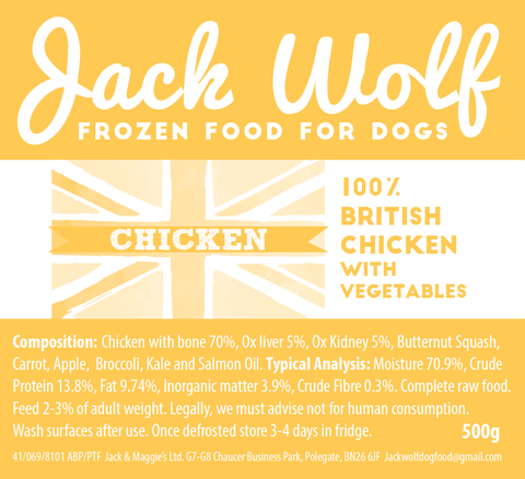 The Natural Menu - Chicken Recipe - Jack Wolf