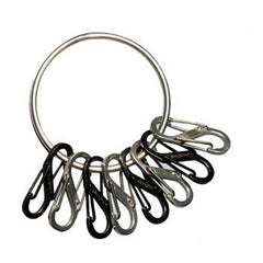 Big Ring Steel 4 Black-4 Stainless Steel S-Biners