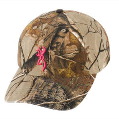 3D Buckmark Hat for Her Realtree Xtra-Fuchsia