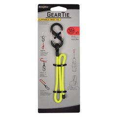 "Gear Tie Clippable Twist Tie 12"" - Neon Yellow"