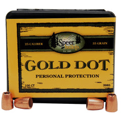 ".25 ACP Bullets, (.251"" Diameter), 35 Grains, Gold Dot Hollow Point, Per 100"