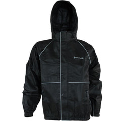 Compass 360 RoadTek Reflective Riding Jacket-Black-Size LG