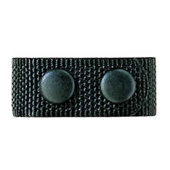 6406 Belt Keeper, Snap Closure, Black, 4 Pack