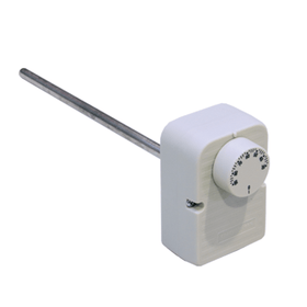 "Boiler thermostat 30°-90°C with ½"" dry pocket"