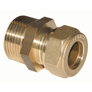 Compression Fitting with Flat End male nipple
