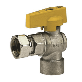 "527 - 3/4""x3/4"" ball valve with sliding nut (90°yellow)"