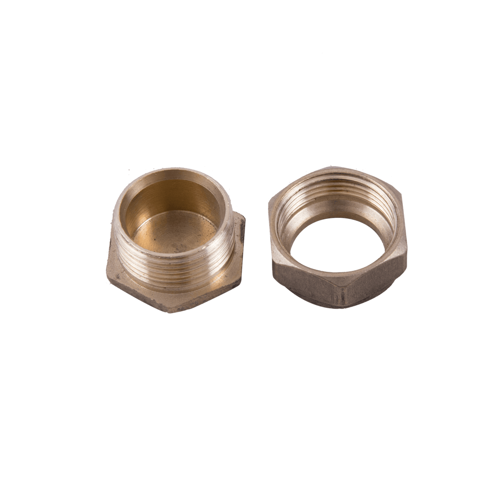 Brass 22mm compression stop end fitting