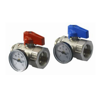 Valves with thermometer 1' (pair)