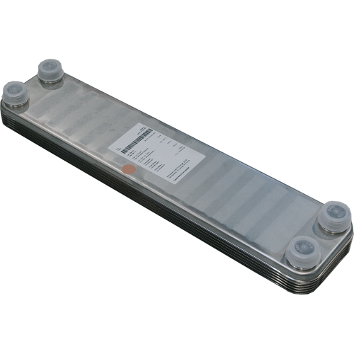 SS plate heat exchanger for up to 10 sq m of solar panel incl insulation