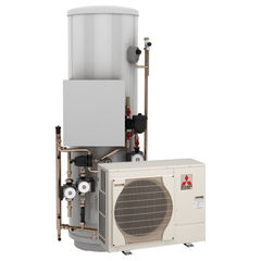 Mitsubishi Heat Pumps with Standard Water Heater