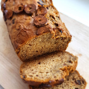 Recipe: Banana Bread with Dark Chocolate and Red Dates Vegan GF