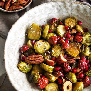 Honey Roasted Brussel Sprouts – GF, DF, Vegetarian