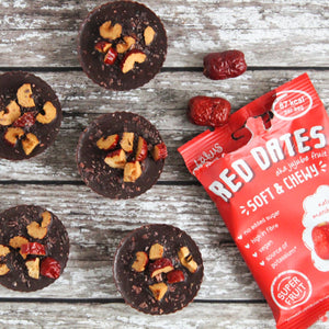 Recipe: Red Date topped Peanut Butter Cups - Vegan, GF