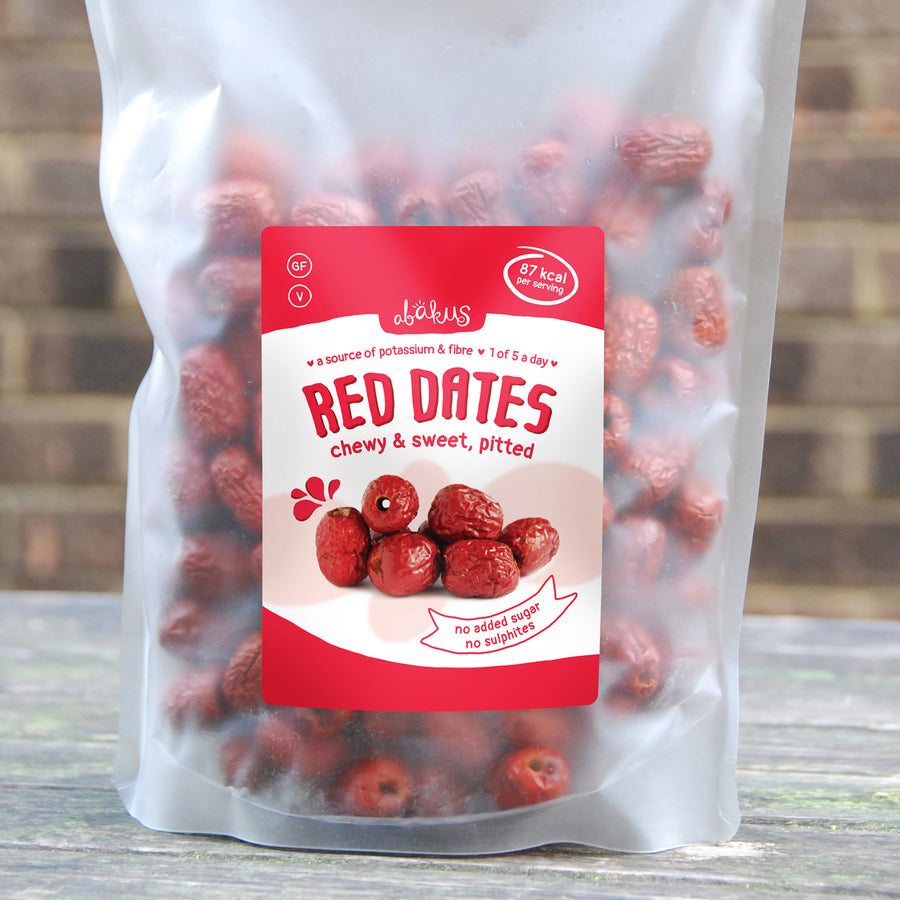 Bulk Bag: 500 grams Soft Pitted Red Dates (Jujube Fruit)