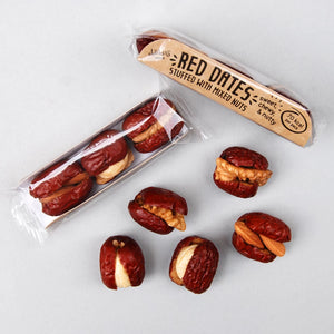 Red dates / jujube fruit stuffed with almonds
