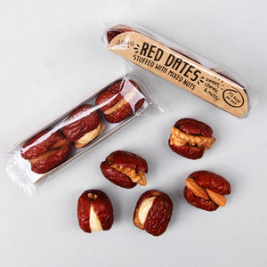 Red dates / jujube fruit stuffed with cashews