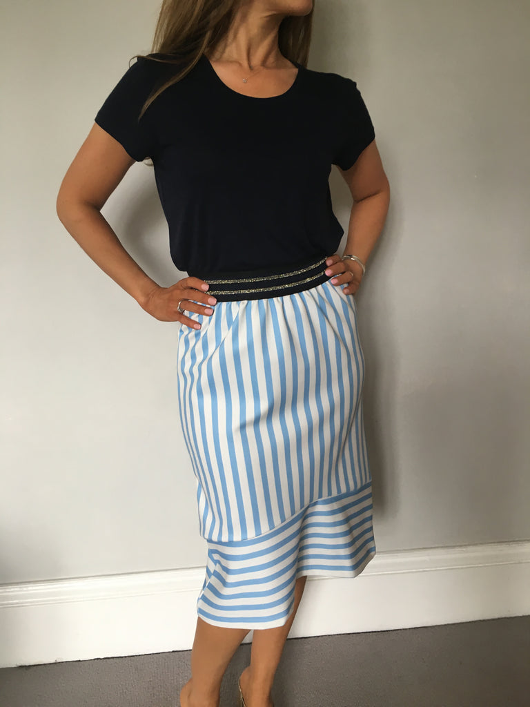 Cubic - striped skirt