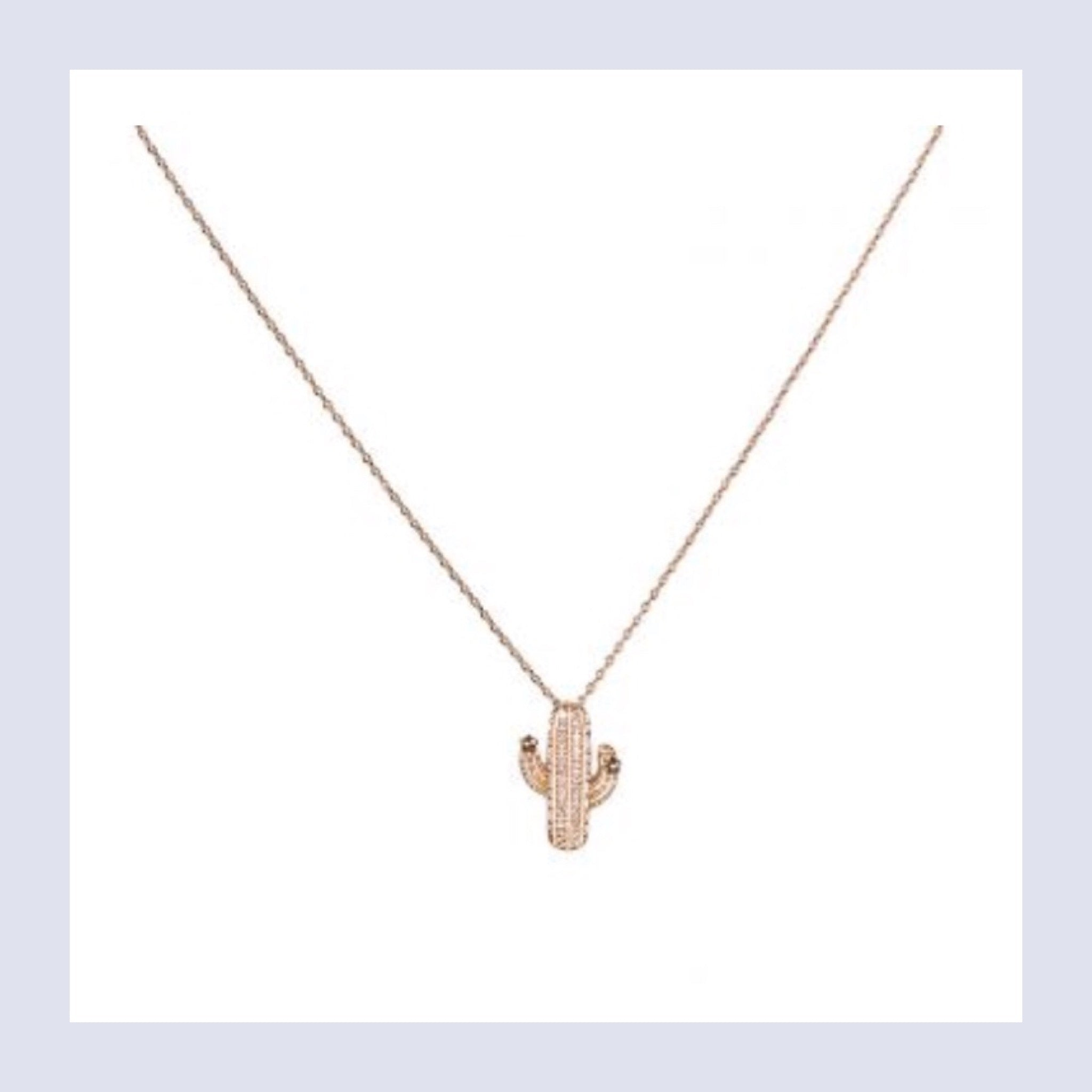 Tropical luxe cactus necklace - gold