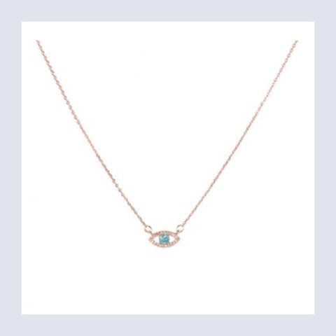 Evil Eye necklace - rose