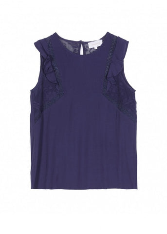 Grace & Mila - Precieuse top - Navy